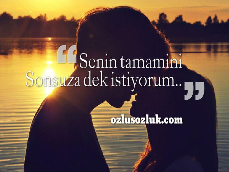 Senin tamamını sonsuza dek istiyorum..