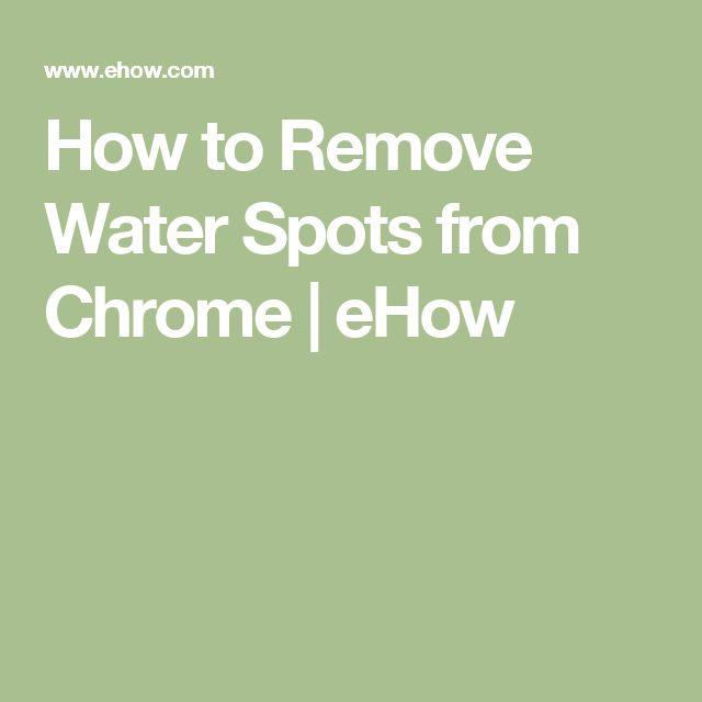 Top 25 Best Remove Water Spots Ideas On Pinterest Water