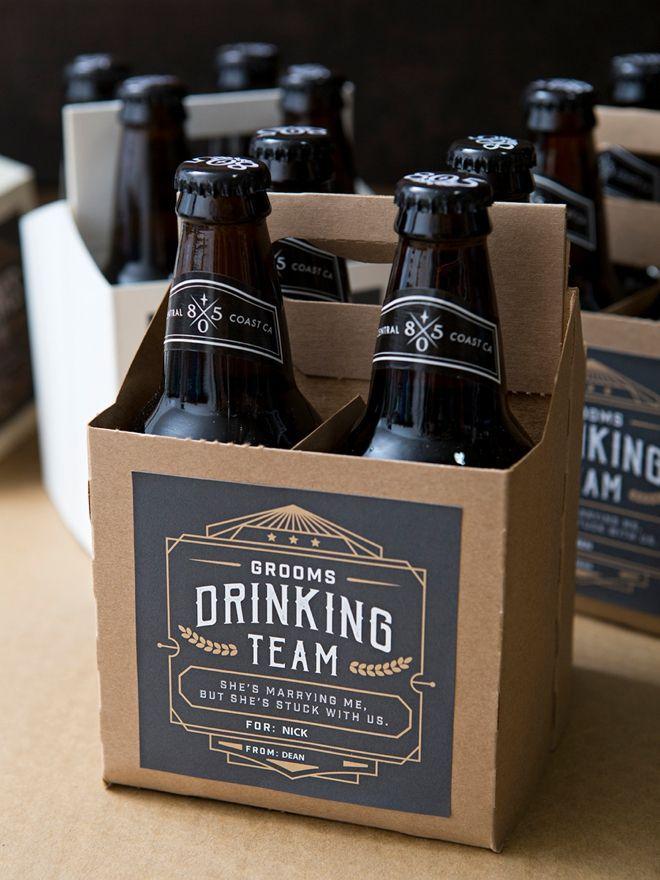 Your Groomsmen Will Love This Diy 4 Pack Beer Gift Groomsman Gifts Beer Wedding Gifts For Groomsmen Beer Wedding
