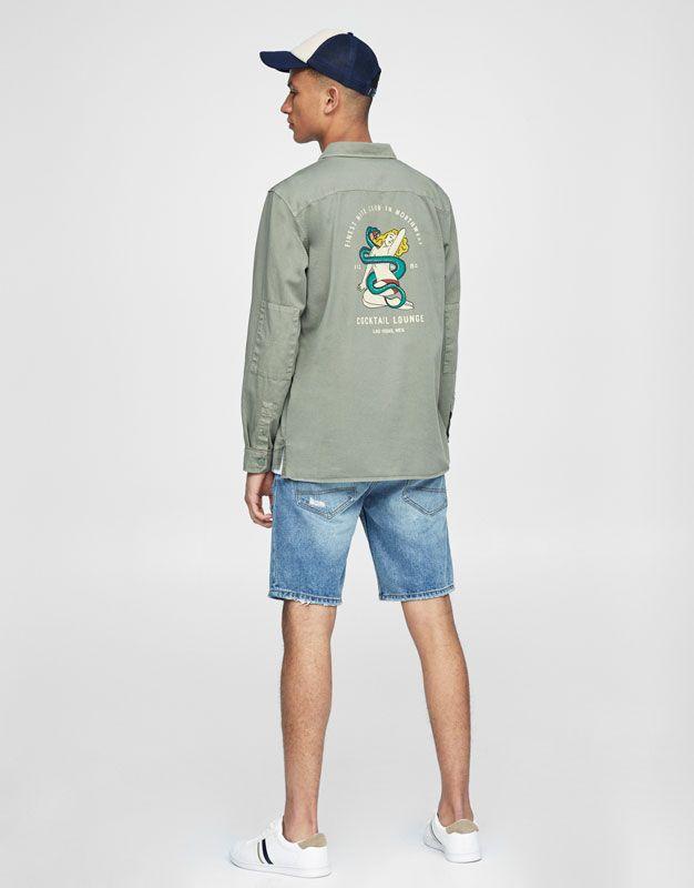 Surchemise imprimé dos - Chemises - Vêtements - Homme - PULL&BEAR France