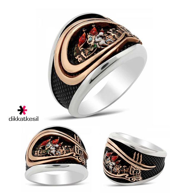Tuğralı Fetih Yüzüğü 925 Ayar Gümüş Özel Tasarım http://www.dikkatkesil.com/takilar/yuzuk-modelleri/erkek-yuzukleri