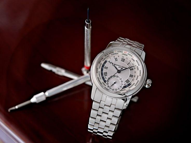 """#TiempoPeyrelongue Este reloj podría ser la """"gloriosa consagración"""" de Frédérique Constant. Con un aspecto verdaderamente asombroso y un funcionamiento increíblemente sencillo, el Classics Manufacture Worldtimer. @FrederiqueConst"""