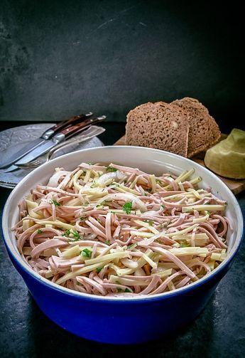 Schwäbischer Wurstsalat mit Käse