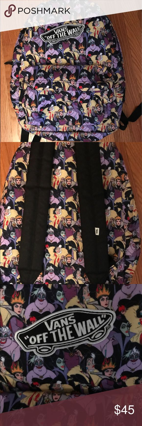 Vans Disney Villain Villainess Backpack This is a Vans Disney Villainess Backpack. It is very slightly used with no visible wear. Comes from a non smoking home. No longer sold in stores. Vans Bags Backpacks