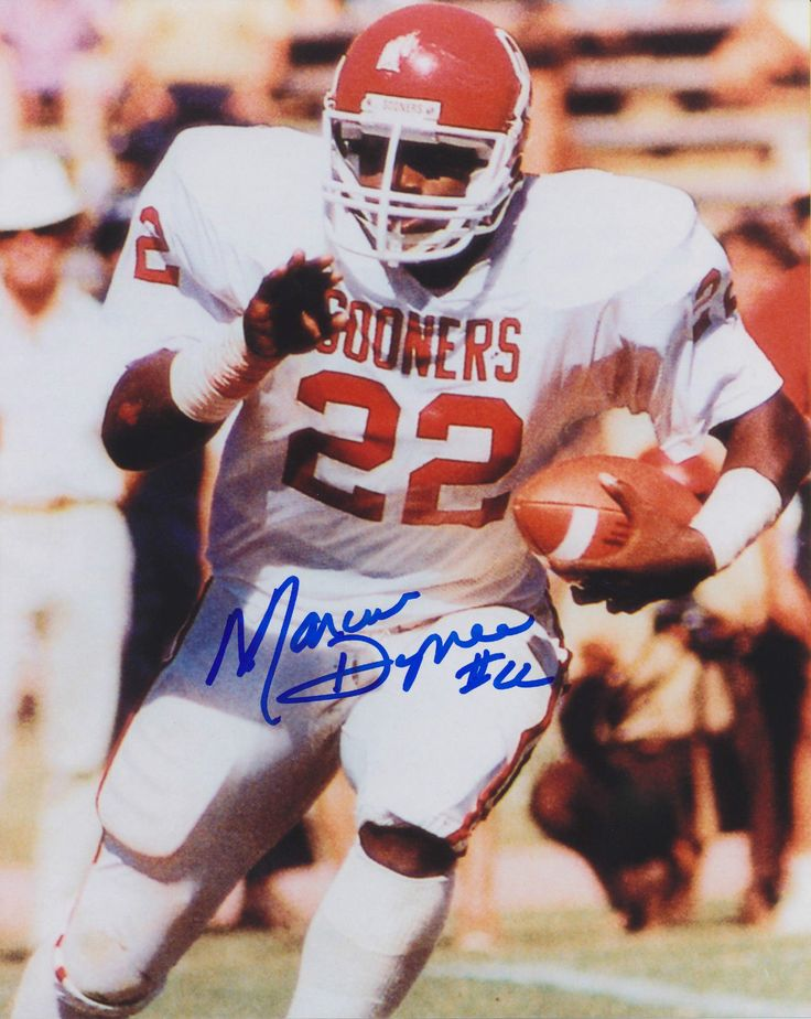Marcus Dupree Autographed 8x10 Oklahoma Sooners 1 Free Shipping | eBay