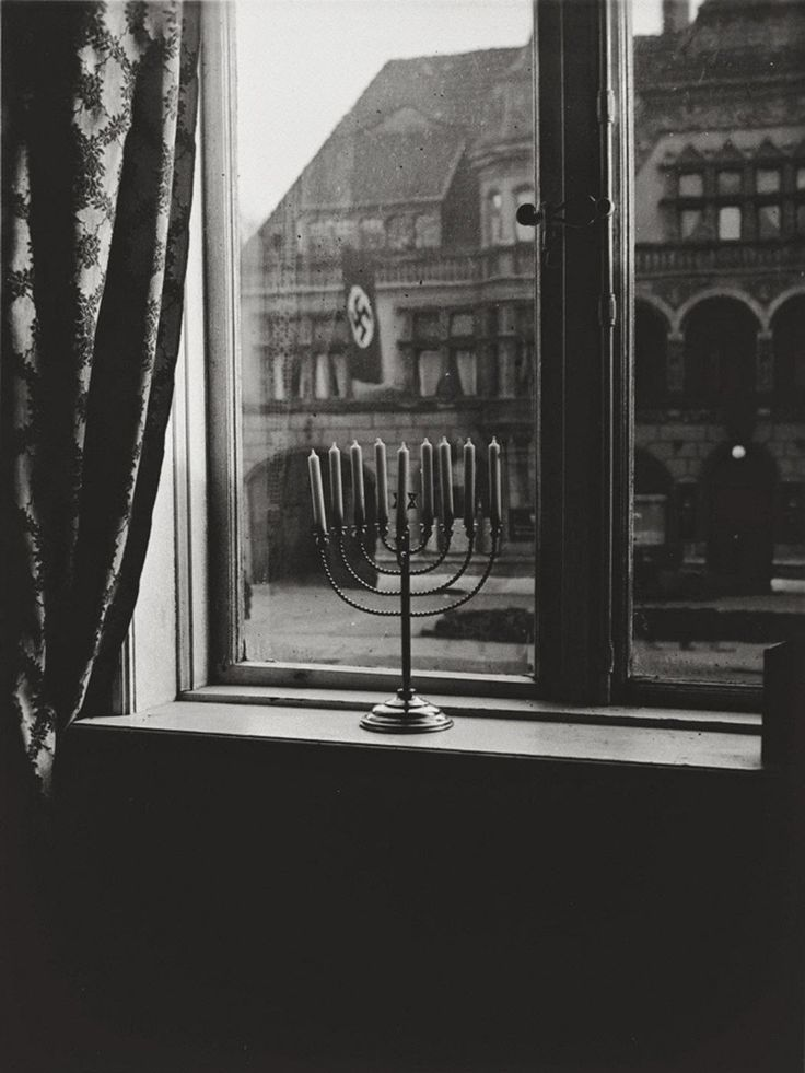 A menorah defies the Nazi flag, 1931.jpg. How do we respond to the calls for tolerance of the intolerable?