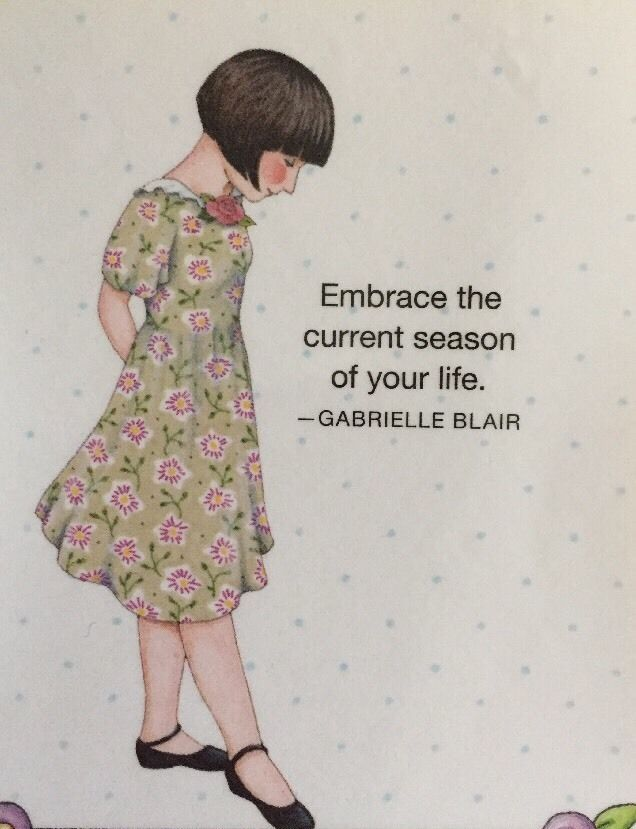 Handmade Fridge Magnet -Mary Engelbreit Artwork-Embrace The Current Season