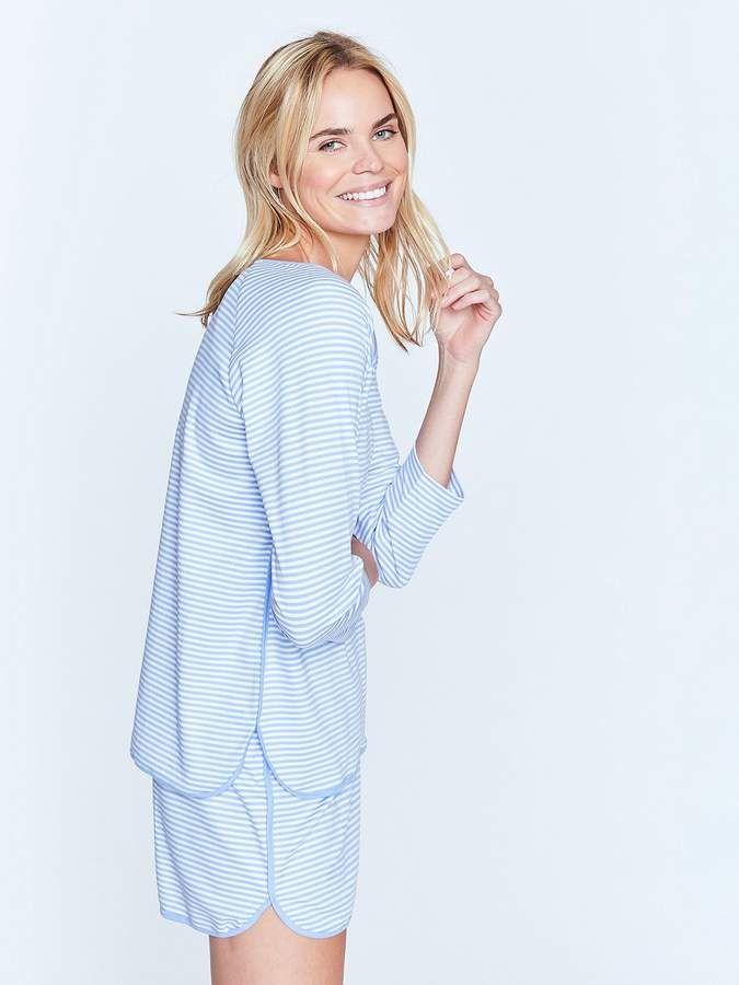 e97cee601b LAKE Pajamas Hydrangea Long-Short Set #top#sleeve#comfortable ...
