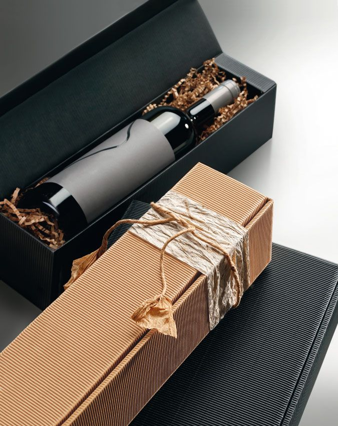 Geschenkverpackungen aus Offener Welle für Wein-, Sekt- und Mischpräsente.