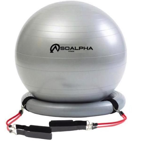 So Alpha® Exercise Ball with Resistance Bands