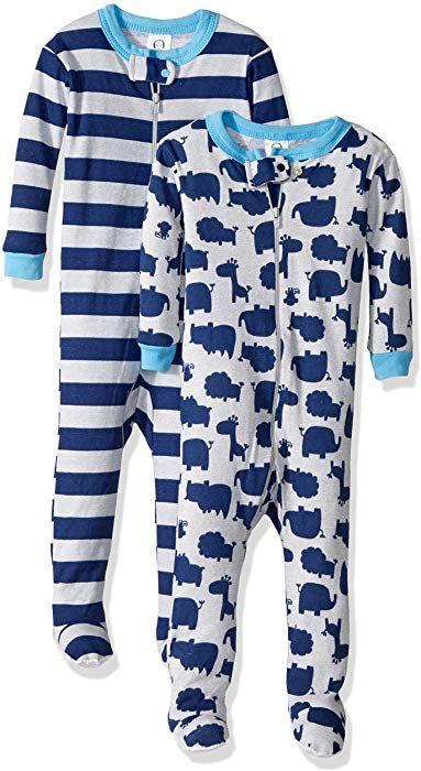 fe78d63c7 Amazon.com  Gerber Baby Boys 2 Pack Footed Sleeper