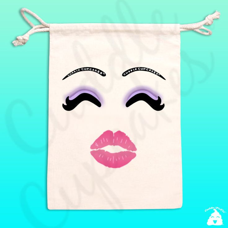 Makeup bag / makeup drawstring bag / mini makeup bag / small makeup bag / poop emoji / makeup travel case / travel case / woke up like this by CuddleCupcakes on Etsy