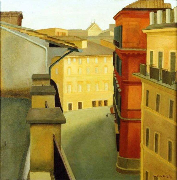 """Antonio Donghi Via del Lavatore 1924 """
