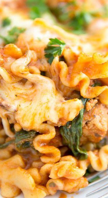 Italian Sausage Skillet Lasagna