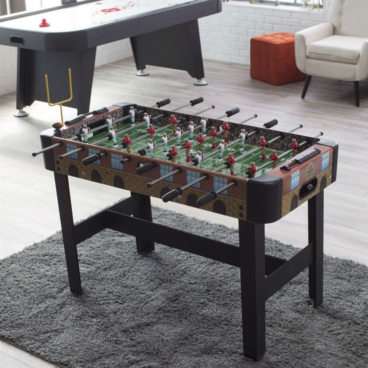 4-Ft Foosball Table with Detailed Football Stadium Graphics