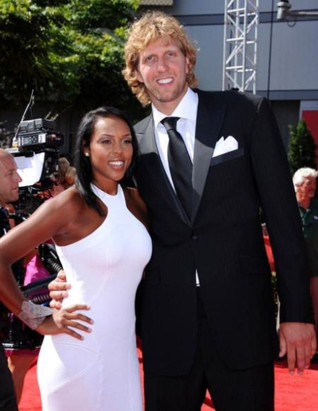 NBA star Dirk Nowitzki married Jessica Olsson, sister of twin Swedish footballers Martin and Marcus Olsson, in 2012. Their first daughter, Malaika, was born in 2013.
