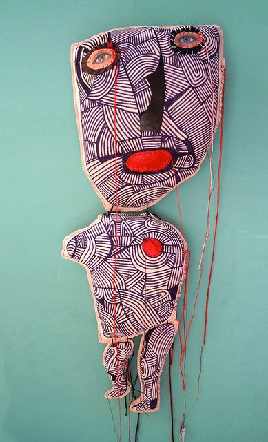 Another Cecile Perra. I'm a little obsessed with her amazing collage puppets.