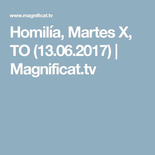 Homilía, Martes X, TO (13.06.2017)   Magnificat.tv