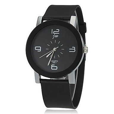 Women's Simple Dial Silicone Band Quartz Wrist Watch (Assorted Colors) – AUD $ 8.64
