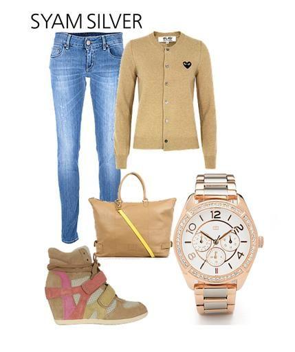 Városi divat, egyszerűen! És egy Tommy Hilfiger óra.