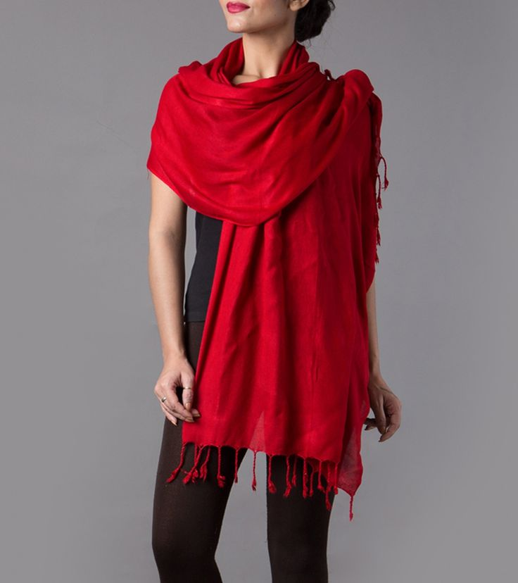 Red Cotton Stole #indianroots #wraps #stole #cotton #summerwear #casualwear