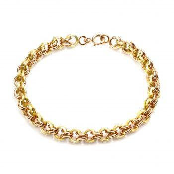 Мужской браслет из комбинированного золота.
