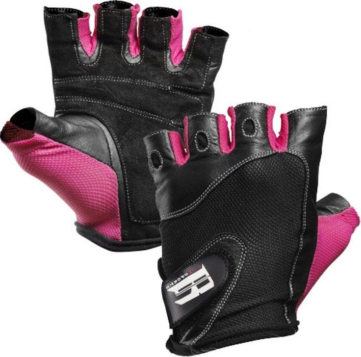 Women's Fit Grip Weight Lifting Gloves w/ Washable Ladies Gym Workout Crossfit Pink (M)