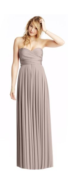 Two birds bridesmaid dress in putty