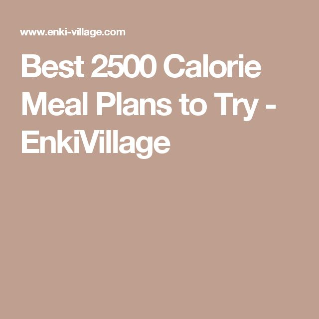 Best 2500 Calorie Meal Plans to Try - EnkiVillage