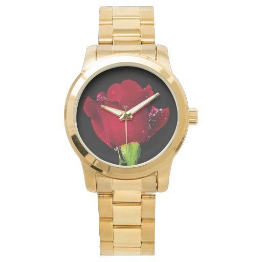 Red Wedding Rose wrist watch