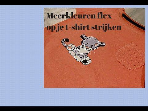 meerkleuren flex op t shirt strijken t shirts