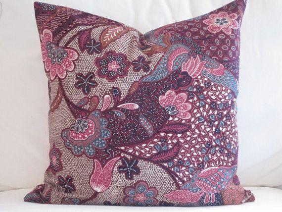 20x20 Inch Purple Boho Paisley Decorative Pillow Purple