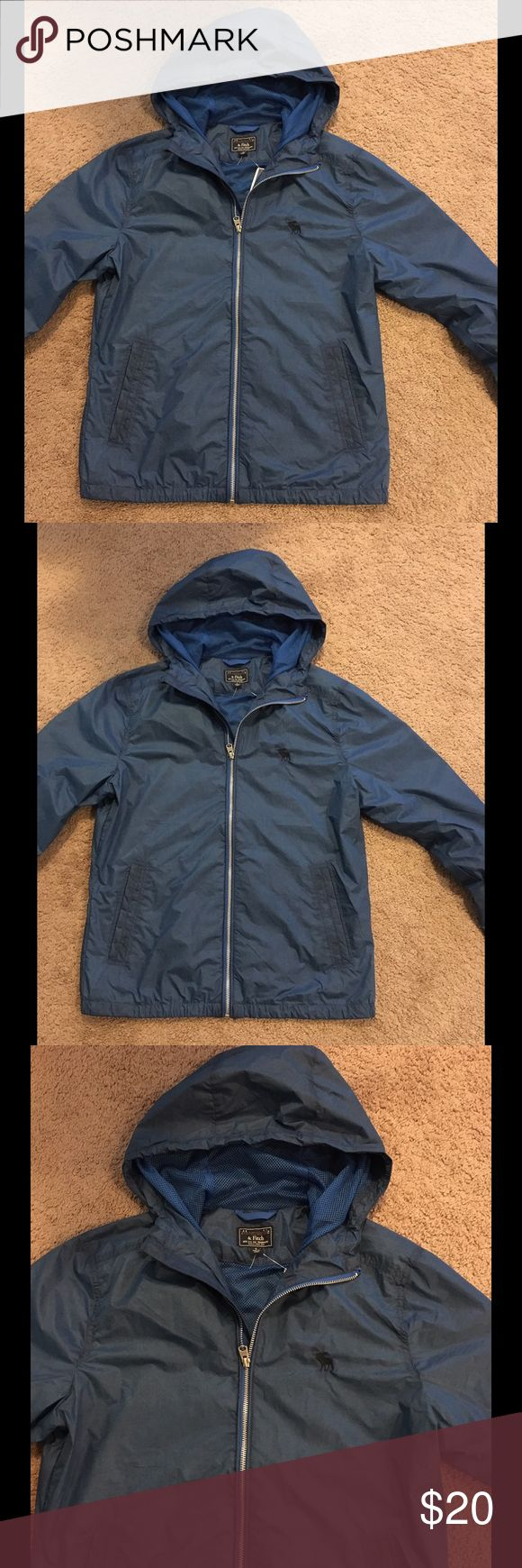 NWOT Abercrombie & Fitch windbreaker NWOT Abercrombie & Fitch windbreaker in beautiful blue color with full zipper & hood. Very lightweight! Abercrombie & Fitch Jackets & Coats
