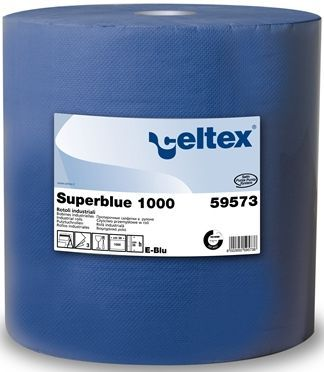 Lavete industriale role Celtex Superblue 1000: CEL-59573, 100% celuloza albastra.