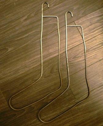 vintage knitting  metal pair of VINTAGE SOCK STRETCHERS by WritersCraftToo, $15.00