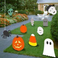free cutout pattern Festive Fall Lawn.