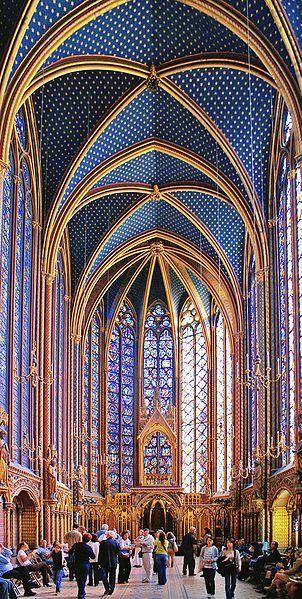 sainte chapelle, rayonnant gothic architecture, ile de la cité paris