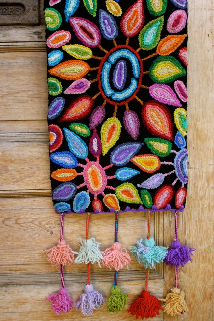 """Light up a room with this stunning """"Fireworks"""" table runner…"""