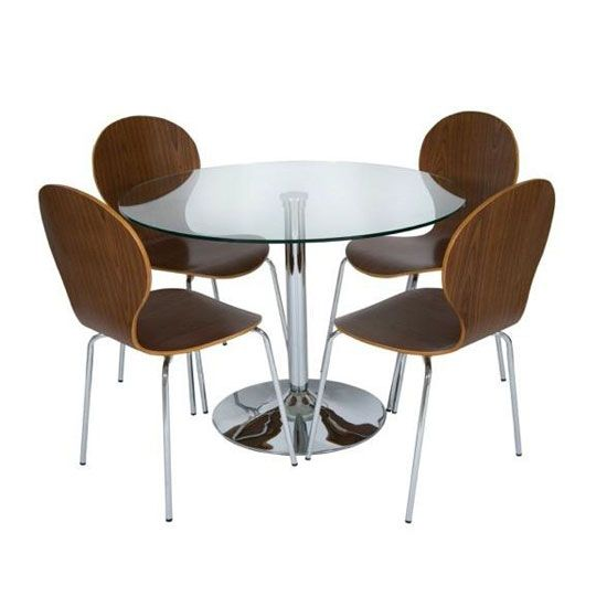 Harry Round Glass Dining Table Set With 4 Dining Chairs - 100 Best 4 Seater Glass Dining Sets Images On Pinterest