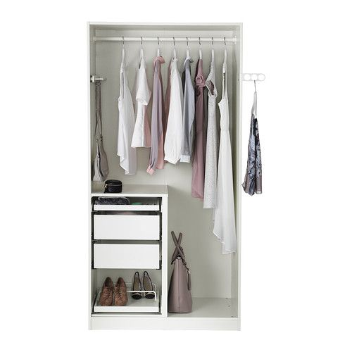 1000 images about idee dressing on pinterest wall shelf unit ikea pax war - Armoire penderie dressing ...