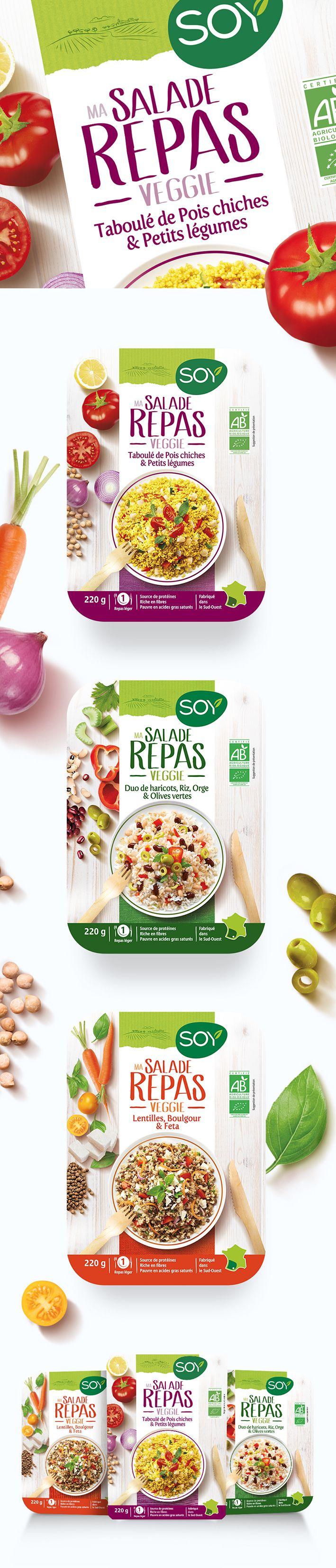 Salades repas veggie toutes prêtes - Conçu par Change Design à Pau