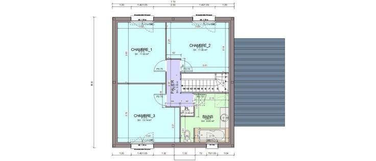 Achat  un notaire pour lu0027acheteur et un pour le vendeur Primo - plan maison plain pied 80m2