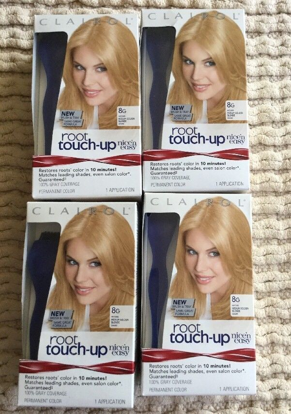 NEW LOT X 4 CLAIROL ROOT TOUCH UP PERMANENT COLOR 8G MED.GOLDEN BLONDE FREE SHIP  | eBay