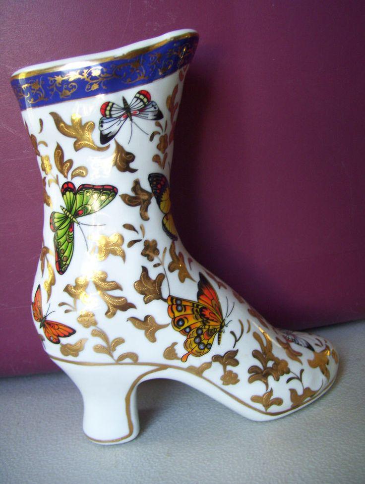 Beautiful Victorian Butterfly Porcelain Heel Shoe ...