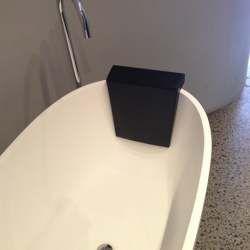 Bath Head Rest (BH1) Bath Head Rest Black  Size W 360 x D 110 x H 330 mm