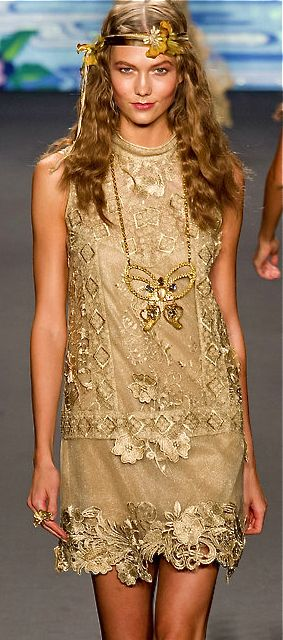 Ah, the shift.  The lace shift. Comes around about every 50 years, or so. - Anna Sui, 2014