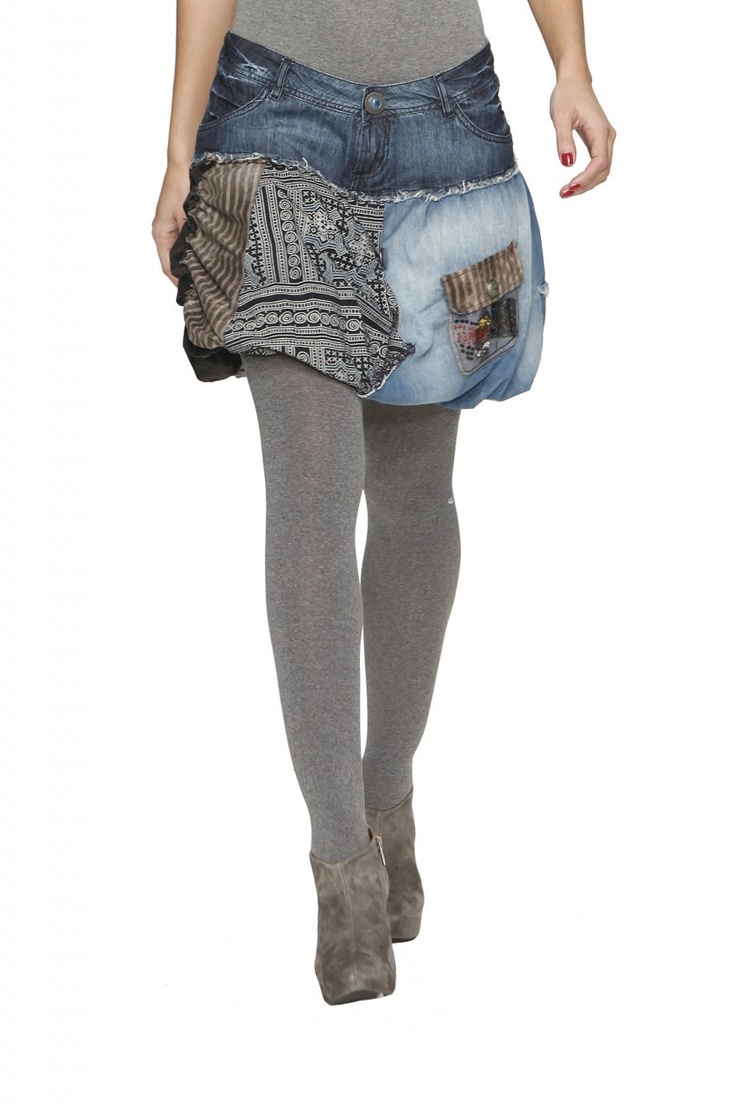 Desigual Jean Balloon Skirt - $49.50...this skirt is a hideous creature