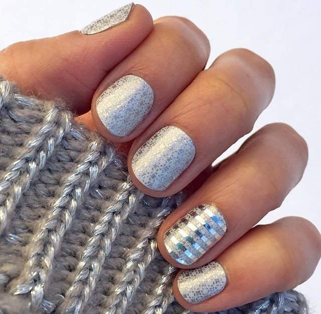 First frost metallic silver stripe