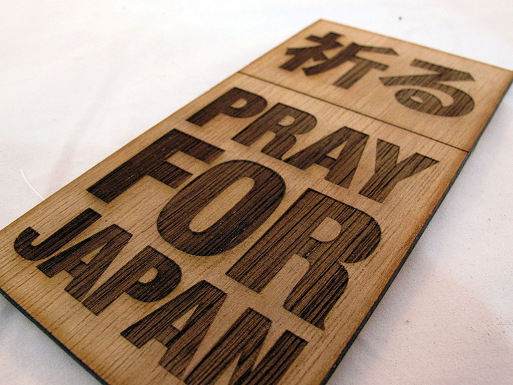 Pray for Japan Placard
