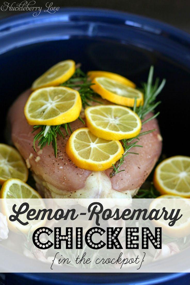 Lemon Rosemary Chicken {Crock Pot Recipe}- healthy and delicious!